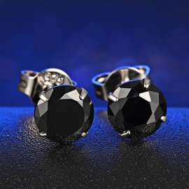 925 Sterling Silver Stud Earrings For Womens 1Pair